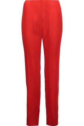 ANTONIO BERARDI Satin-crepe tapered pants