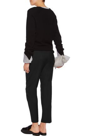 MM6 by MAISON MARGIELA Wool-blend twill straight-leg pants