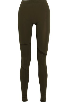 MM6 MAISON MARGIELA Cutout stretch-jersey leggings