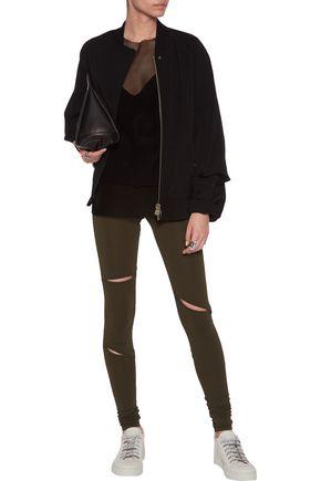 MM6 by MAISON MARGIELA Cutout stretch-jersey leggings