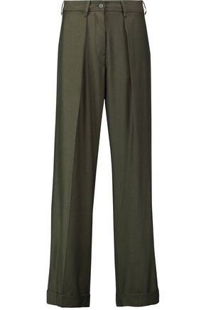 MM6 by MAISON MARGIELA Wool-blend twill wide-leg pants