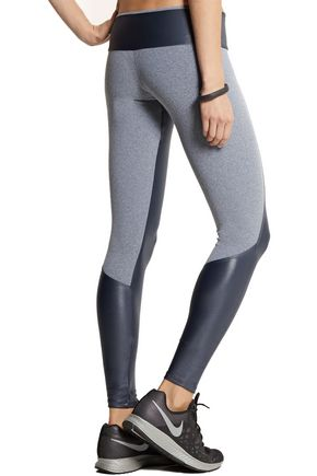 BODYISM I Am Shiny paneled stretch-jersey leggings