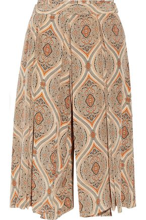 BY MALENE BIRGER Lummy printed silk culottes