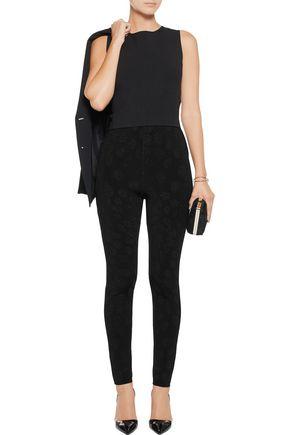 ISSA Ronnie intarsia-knit skinny pants