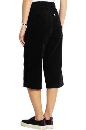 SJYP Cropped cotton-corduroy wide-leg pants