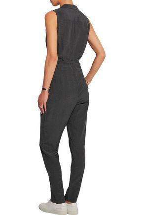EQUIPMENT Adalyn polka-dot washed-silk jumpsuit