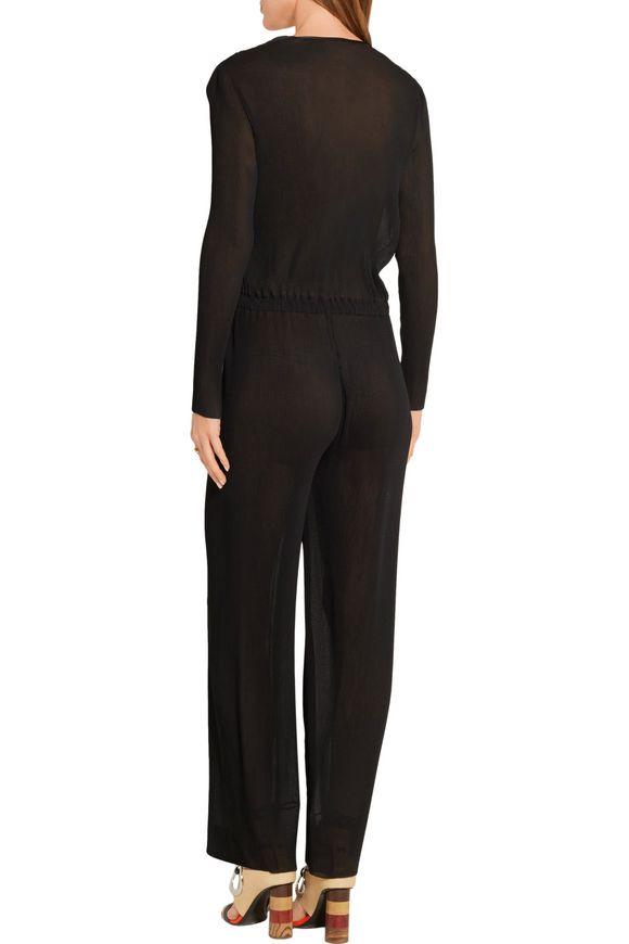 Wrap-effect plissé-georgette jumpsuit | BARBARA CASASOLA | Sale up to 70%  off | THE OUTNET