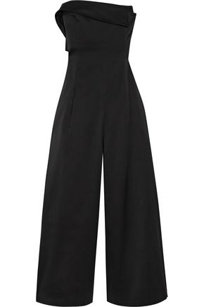 MONSE Cotton and silk-blend wide-leg jumpsuit