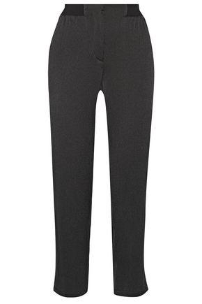 BARBARA CASASOLA Silk-matelassé straight-leg pants