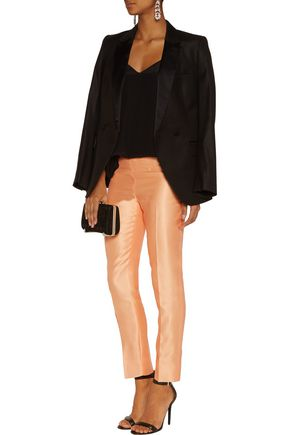 RAOUL Cropped crepe slim-fit pants