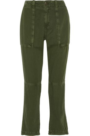CURRENT/ELLIOTT The Industrial cotton-twill straight-leg pants