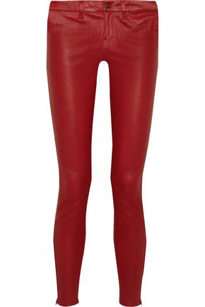 J BRAND Leather skinny pants