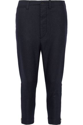 NLST Officer wool-blend flannel tapered pants