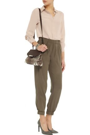 W118 by WALTER BAKER Hana silk tapered pants