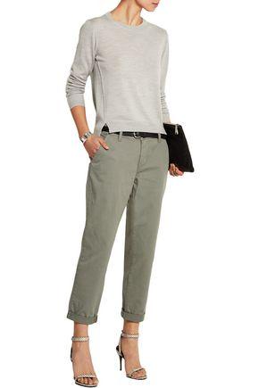 J BRAND Alex stretch-cotton twill straight-leg pants