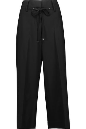 KAUFMANFRANCO Cropped wool-blend wide-leg pants