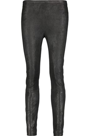 KAUFMANFRANCO Brushed-suede skinny pants