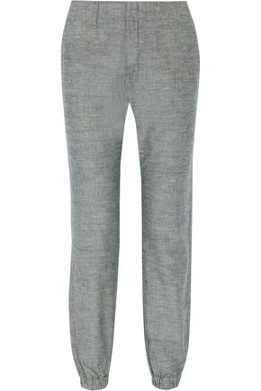 RAG & BONE Cotton-chambray tapered pants