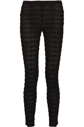 MISSONI Crochet-knit slim-leg pants