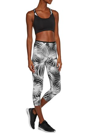 LIVE THE PROCESS Printed Stretch-Supplex® leggings