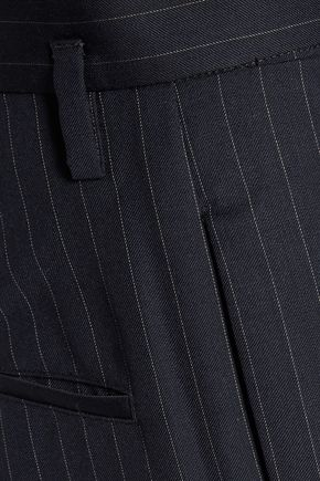 MAISON MARGIELA Pinstriped wool wide-leg pants