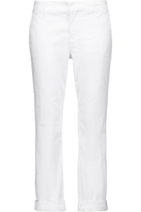J BRAND Marla stretch-cotton twill straight-leg pants