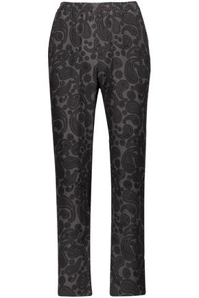 STELLA McCARTNEY Printed silk-crepe straight-leg pants