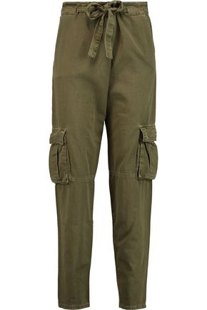 CURRENT/ELLIOTT The Crossover cotton-twill tapered pants