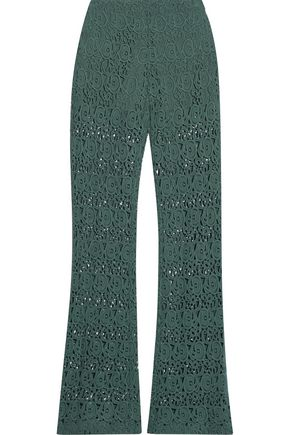 MIGUELINA Kai cotton guipure lace flared pants