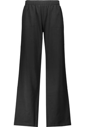 NORMA KAMALI Cotton-blend wide-leg track pants