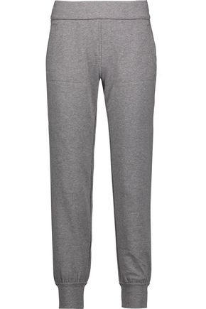 NORMA KAMALI Stretch-cotton track pants
