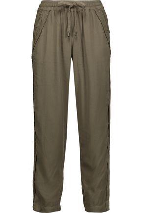 SPLENDID Fringed crepe pants