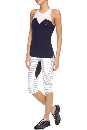 LUCAS HUGH Nordica cropped striped stretch leggings