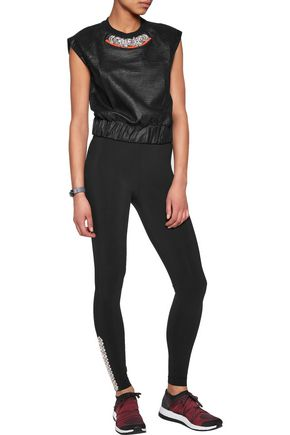 NO KA 'OI Kuna embellished stretch-jersey leggings