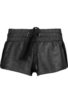NO KA 'OI Coated cotton-blend and shell shorts