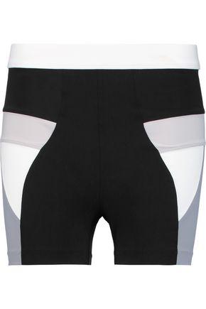 NO KA 'OI Paku color-block stretch-jersey shorts