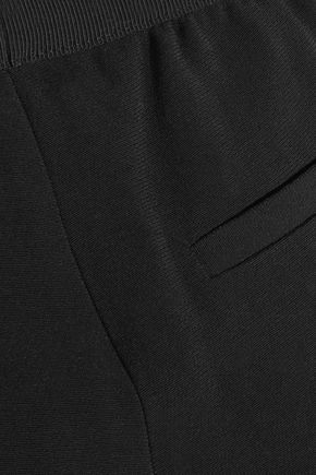 TOM FORD Silk-blend satin and crepe straight-leg pants