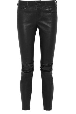 RTA Dylan distressed leather skinny pants