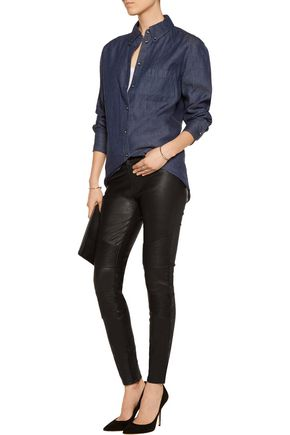 J BRAND Tonya moto-style leather skinny pants