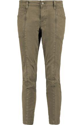 J BRAND Byrnes cropped cotton-blend slim-leg pants