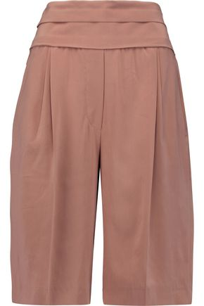 BRUNELLO CUCINELLI Pleated stretch-silk culottes