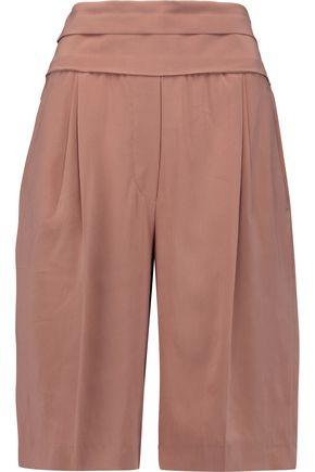 BRUNELLO CUCINELLI Pleated stretch-silk culottes