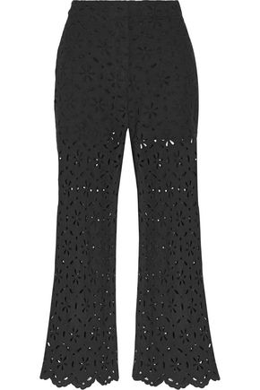 ZIMMERMANN Pavilion broderie anglaise cotton wide-leg pants