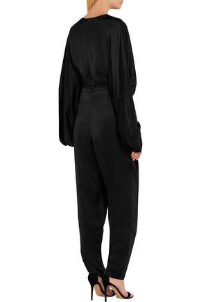 STELLA McCARTNEY Morgane Aio embellished satin jumpsuit