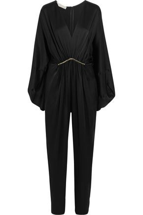 STELLA McCARTNEY Morgane Aio embellished satin jumpsuit