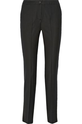 KARL LAGERFELD Rachel wool-twill and organza tuxedo pants