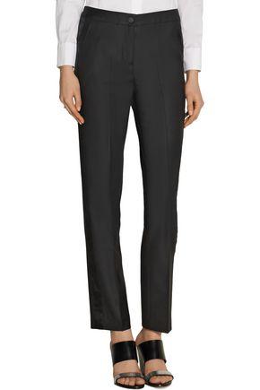 KARL LAGERFELD Rachel wool-twill and organza tuxedo pants