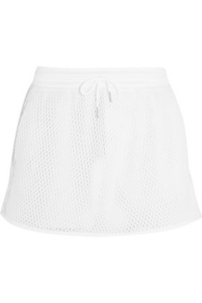 NIKE NikeCourt mesh and cotton-jersey tennis skirt