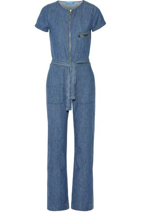 M.I.H JEANS Saint cotton-chambray jumpsuit