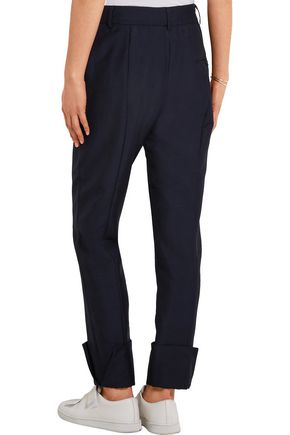 1205 Mohair and wool-blend straight-leg pants